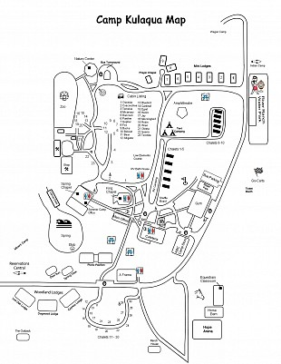 Map of Camp Kulaqua Retreat and Conference Center in FL